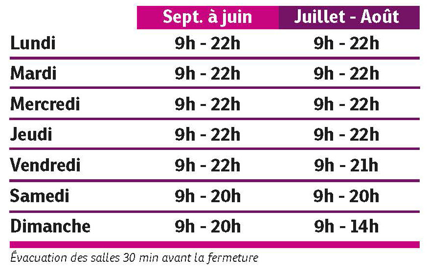 Horaires Espace forme