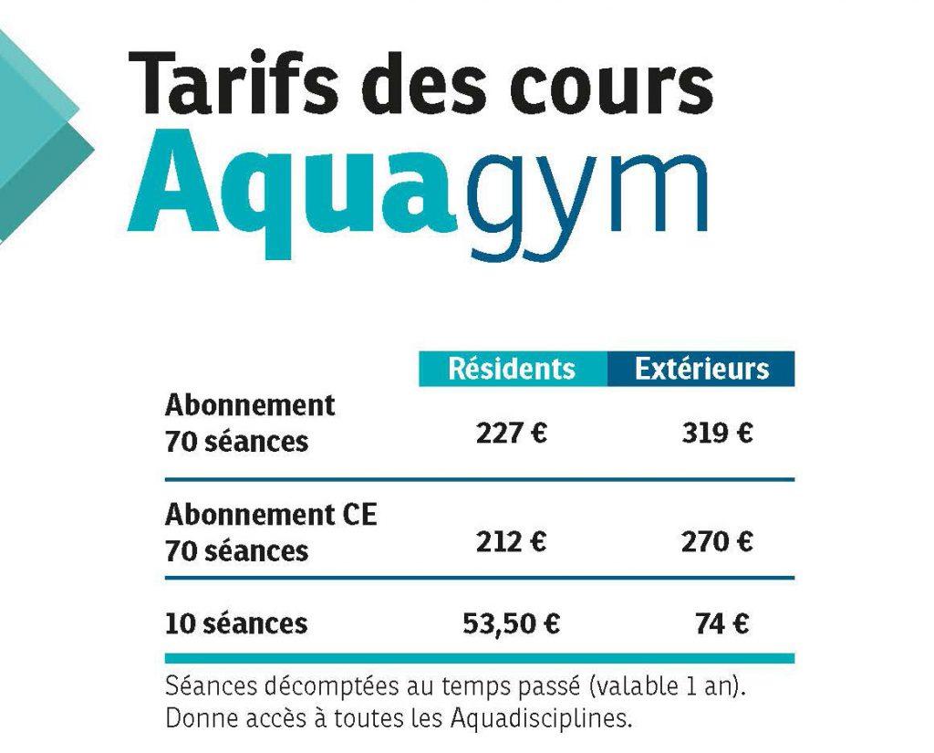 Tarif Aquagym